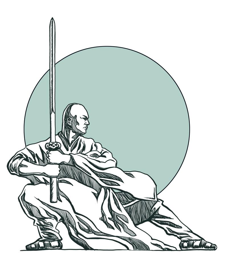 shaolin monk by leontyn on deviantart