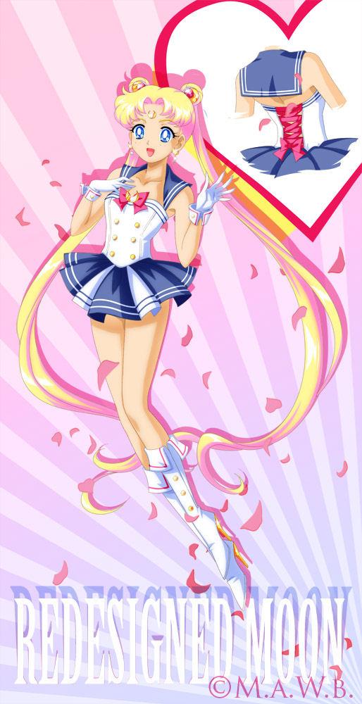 Modern Design Sailor Moon: by Drachea Rannak by Sugar-Senshi