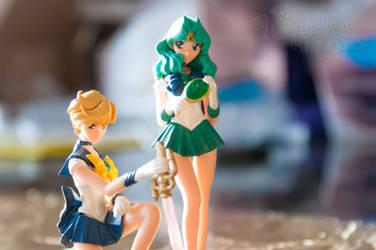 Sailor Uranus and Sailor Neptune by Sugar-Senshi