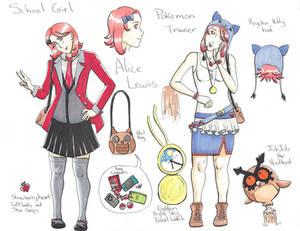 Alice Lewis - Pokemon Trainer OC Profile