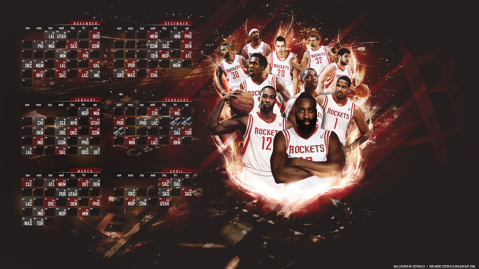 houston rockets schedule 14 15 by cotovelo on deviantart