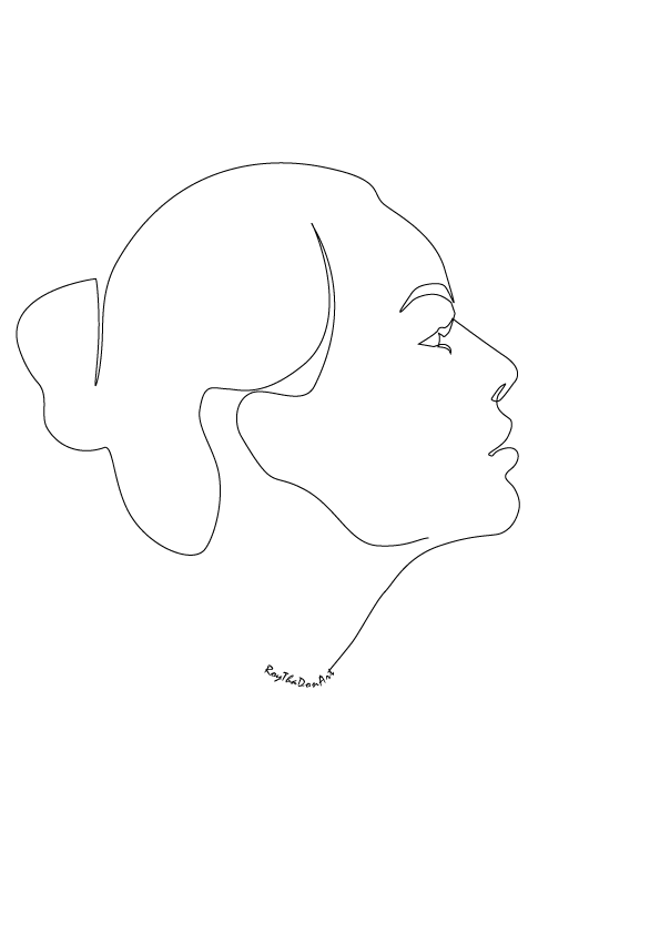 One Line Artwork : One line face by roythadon on deviantart