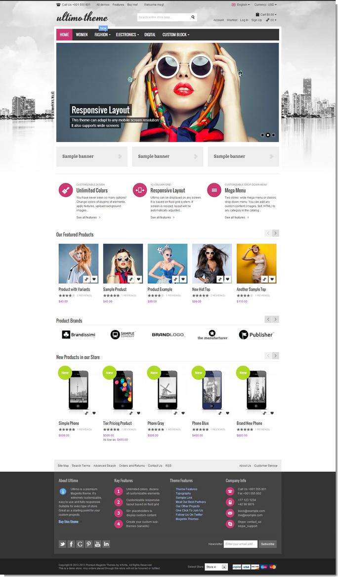 Ultimo - eShop Template by sandracz on DeviantArt