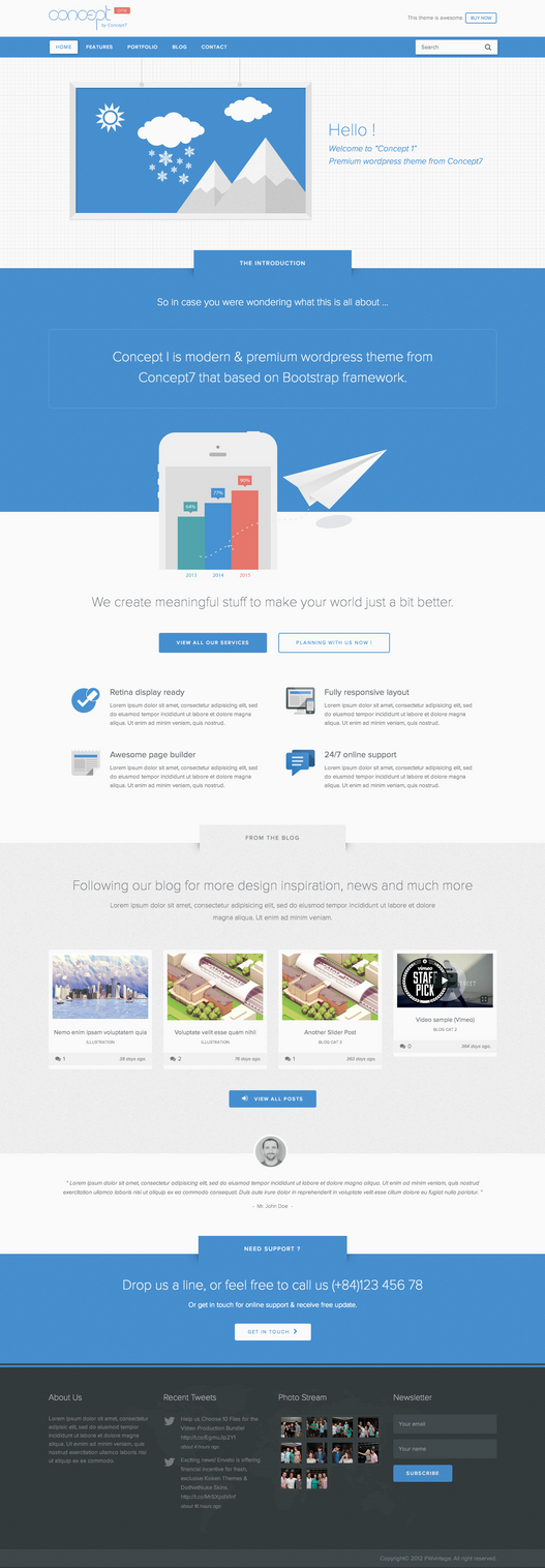 Concept 1 - Creative WP Theme by sandracz