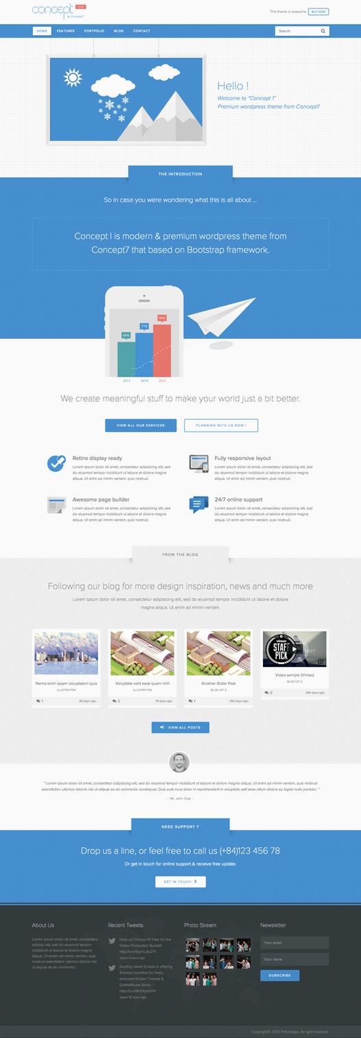 Concept 1 - Creative WP Theme by sandracz