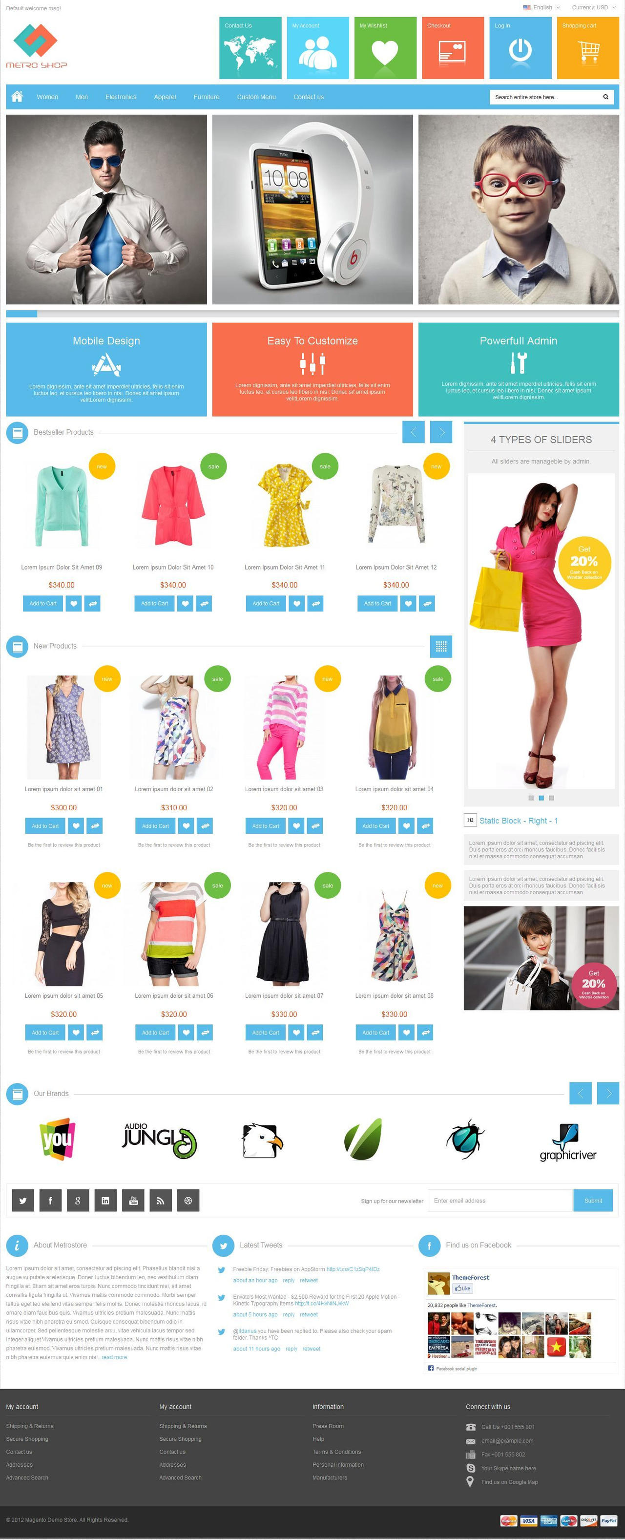 MetroShop - Magento Theme by sandracz