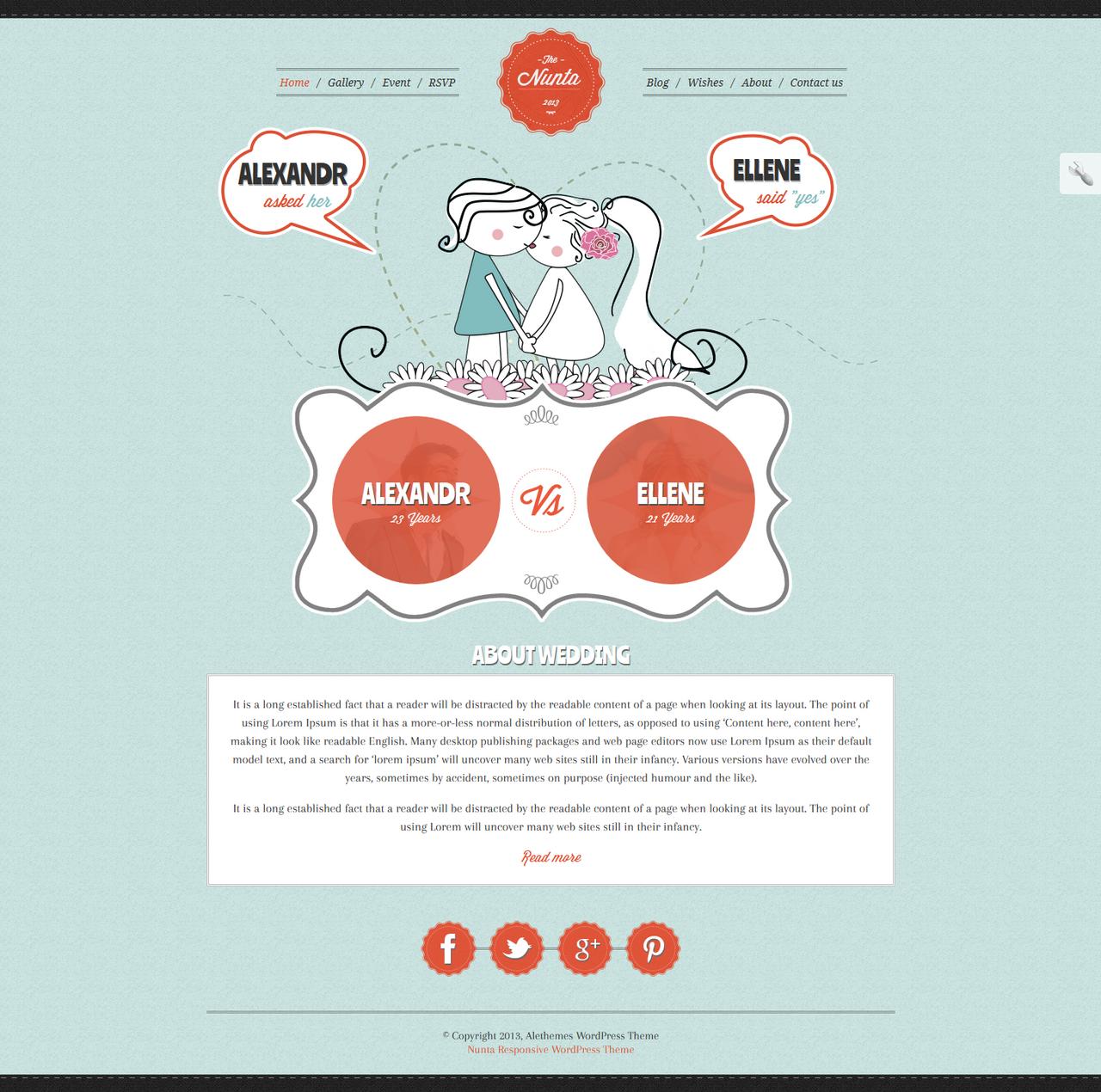 Wedding WordPress Theme by sandracz on DeviantArt