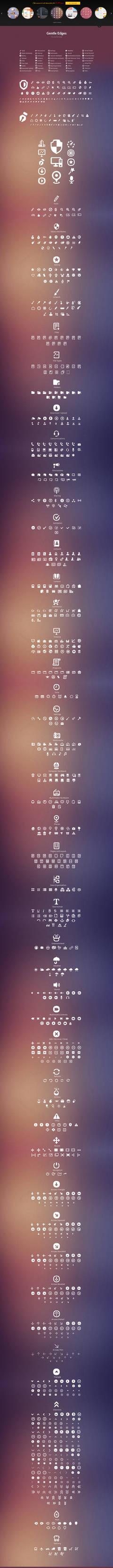 Gentle Edges (1000 Vector Icons)