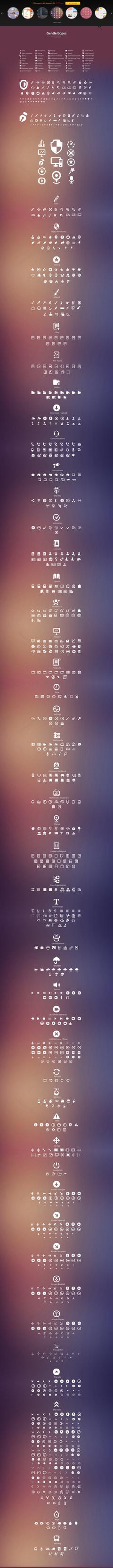 Gentle Edges (1000 Vector Icons) by sandracz
