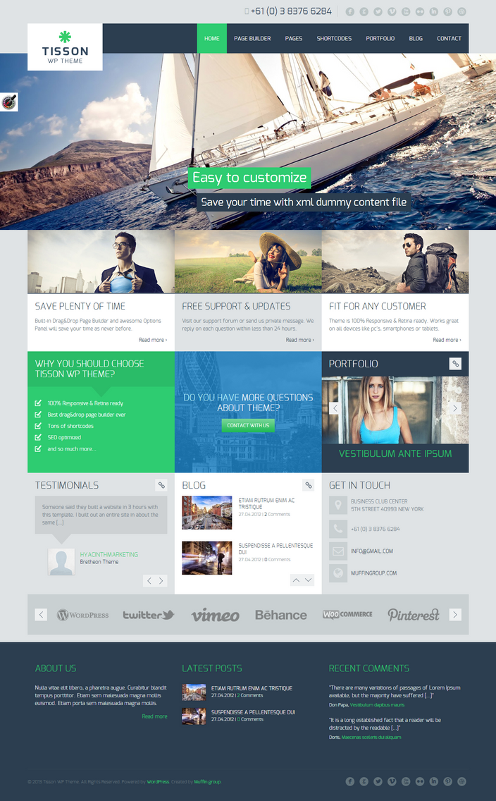 Tisson Premium WP Theme by sandracz