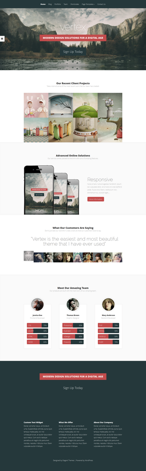 Vertex WordPress Theme by sandracz