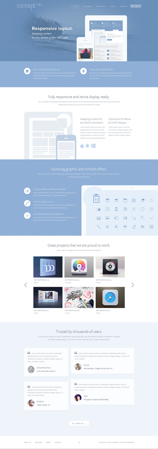 Concept 2 - Creative Stunning WordPress by sandracz