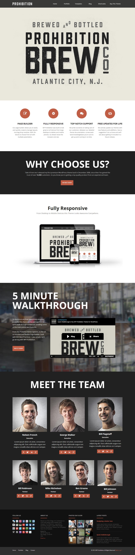 WordPress Prohibition Theme by sandracz