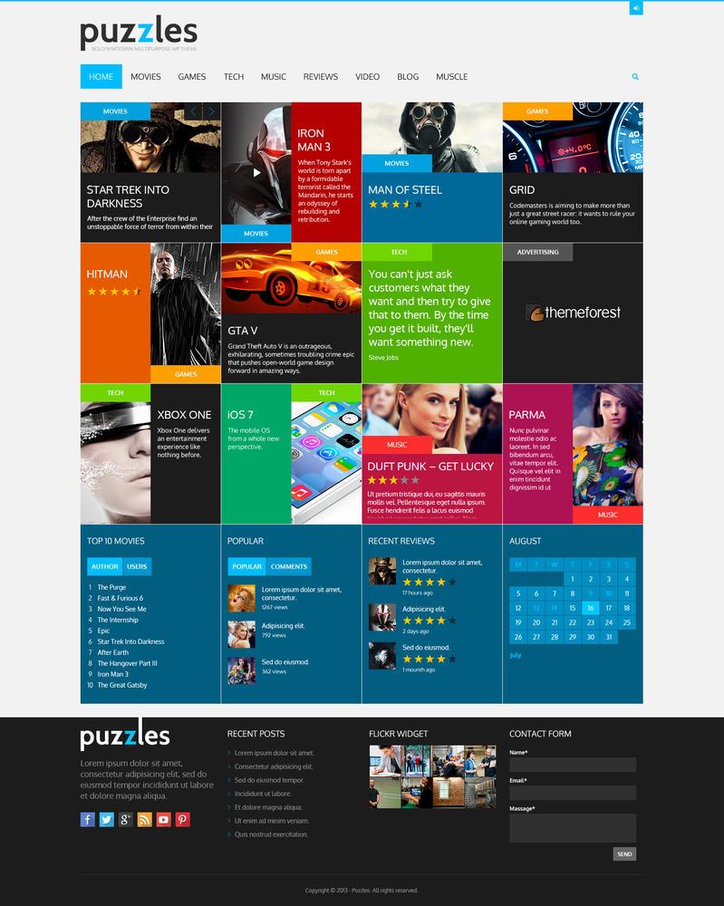 PuZzle WordPress Theme by sandracz