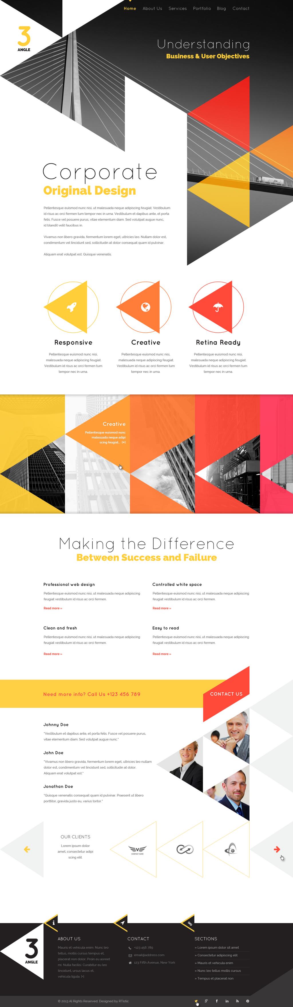 3Angle - Agency Creative HTML Template by sandracz