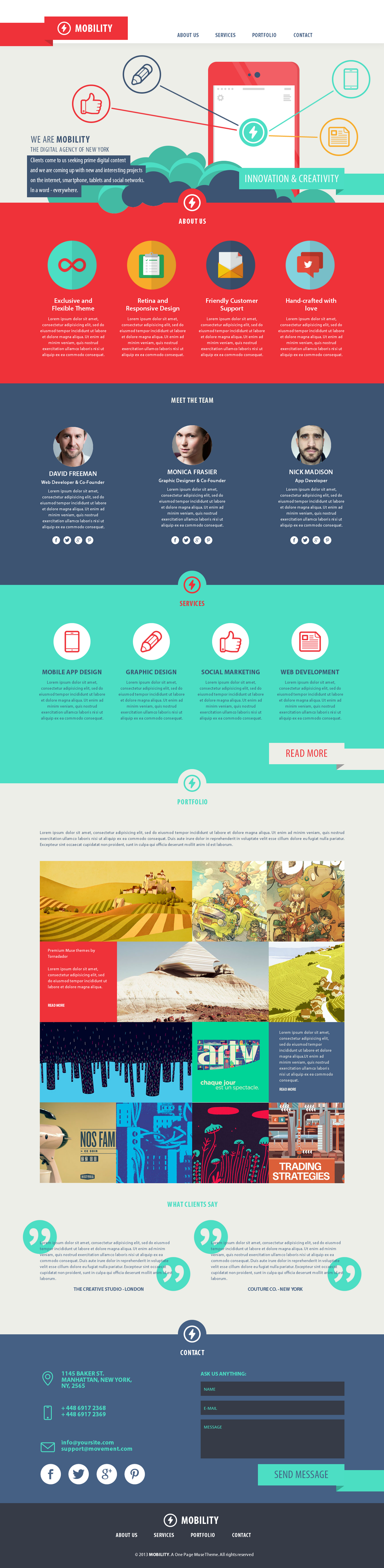 Mobility One Page Theme by sandracz