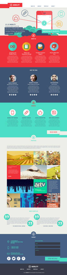 Mobility One Page Theme