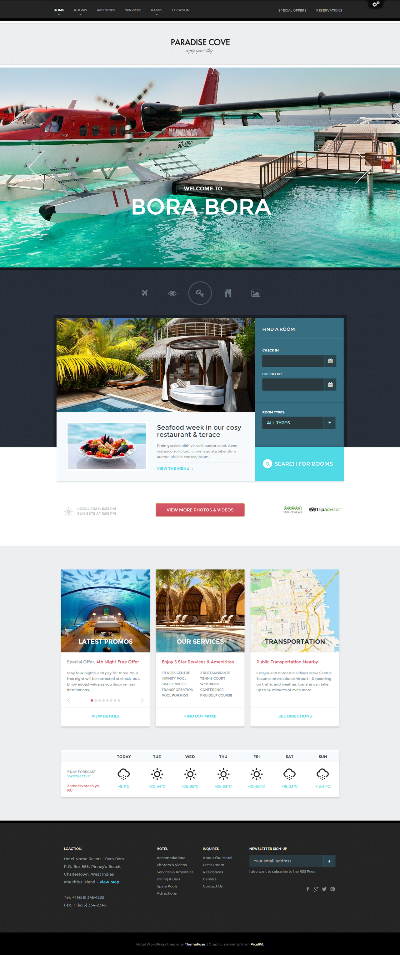 Paradise Hotel Template by sandracz