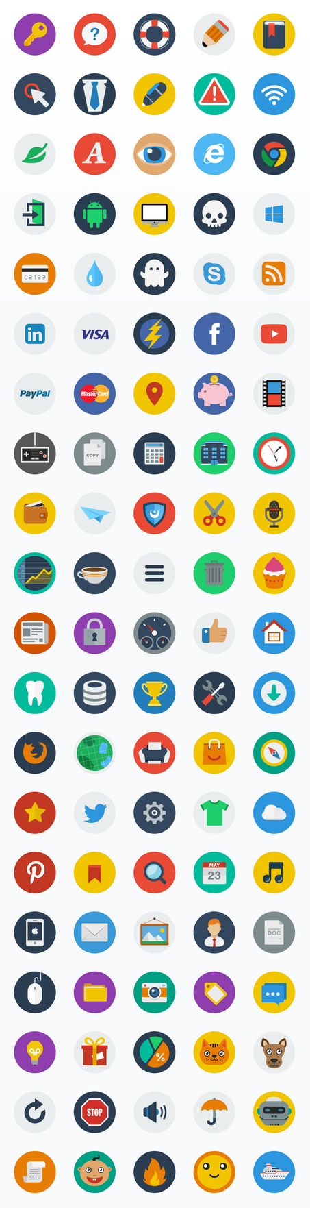 CreAtive - Flat Icons by sandracz