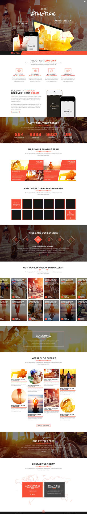Athletica Parallax Web Theme by sandracz
