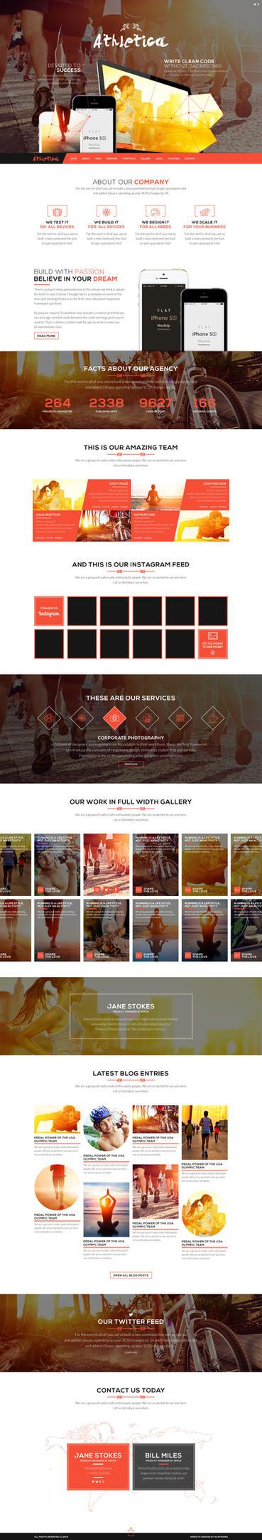 Athletica Parallax Web Theme by sandracz