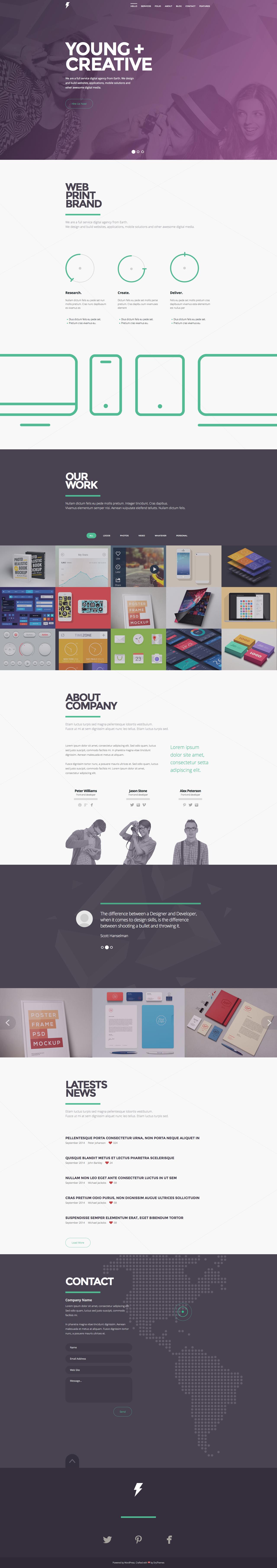 Sensa - One Page Wordpress Theme by sandracz