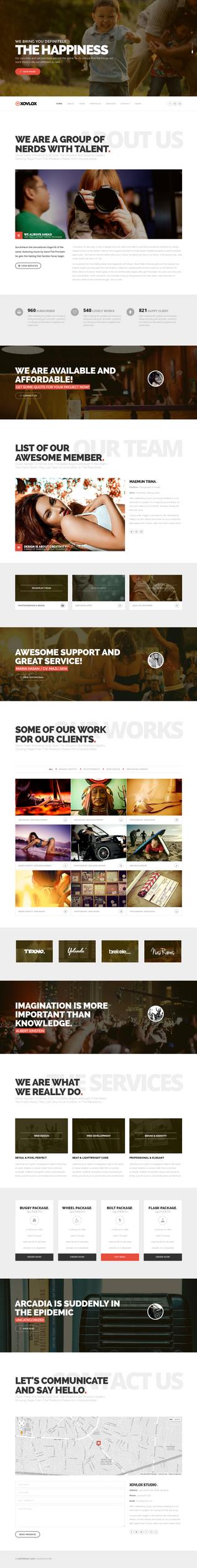Xovlox - One Page Parallax Portfolio Theme by sandracz