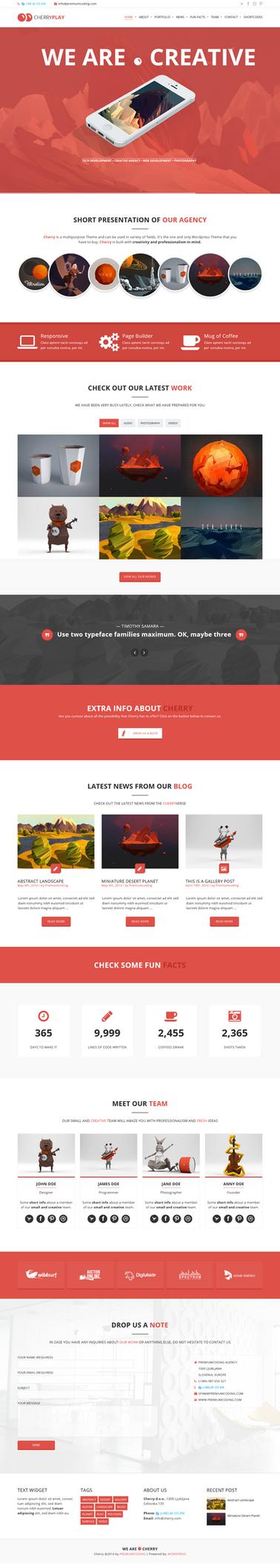 Cherry - Multi Page Theme by sandracz