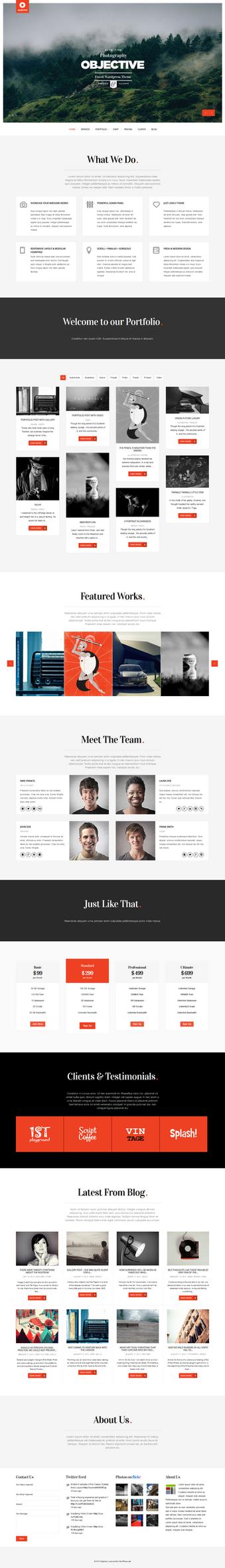 Objective - Responsive Portfolio Photography Theme by sandracz