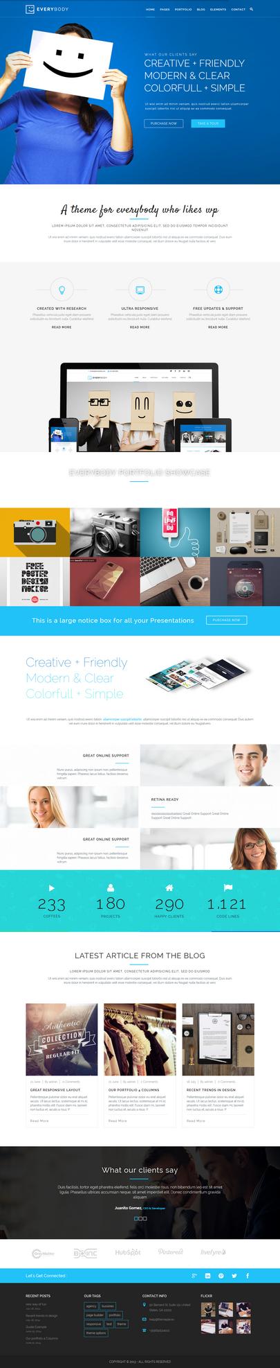 Everybody - Creative WordPress Theme by sandracz