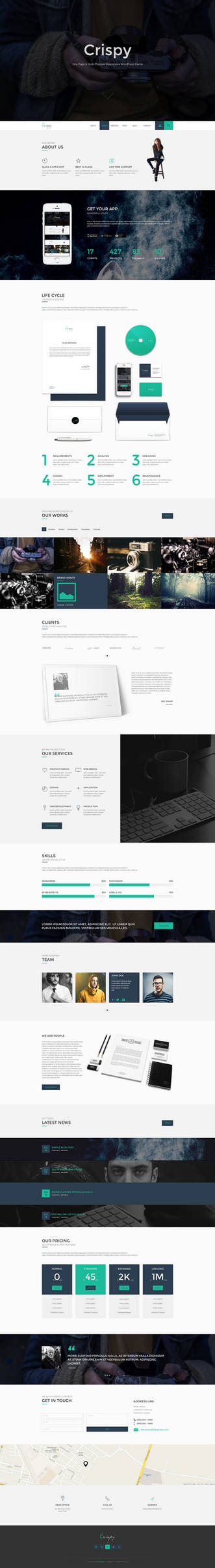 Crispy - One Multi Page Template