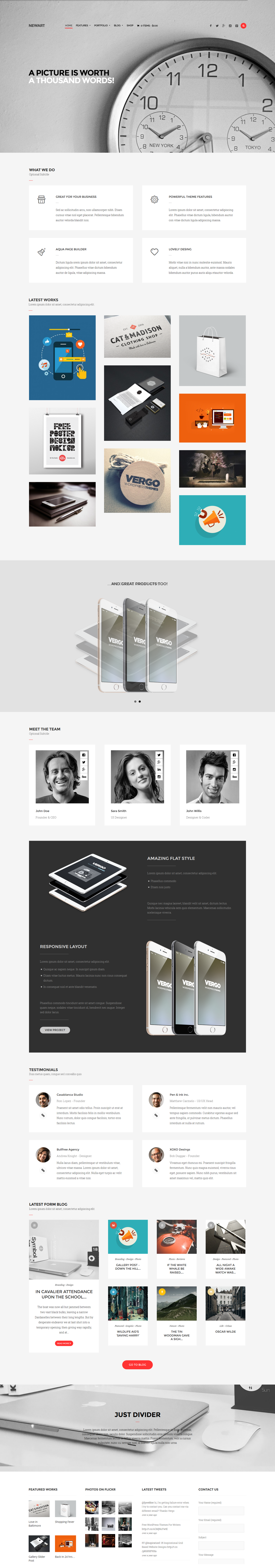 NewArt - Stylish Art Portfolio Theme by sandracz