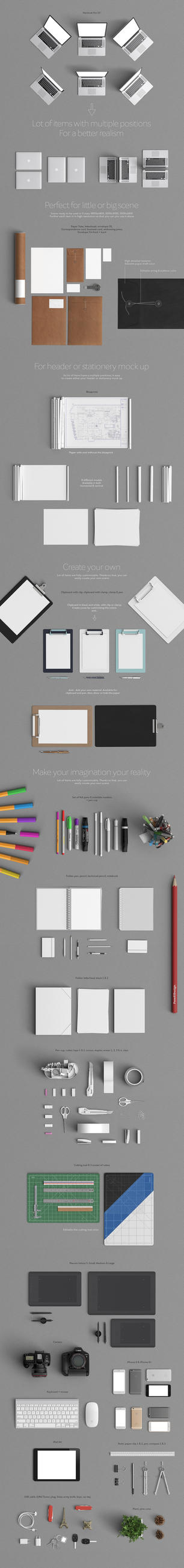 Stationery Mock Up Creator by sandracz