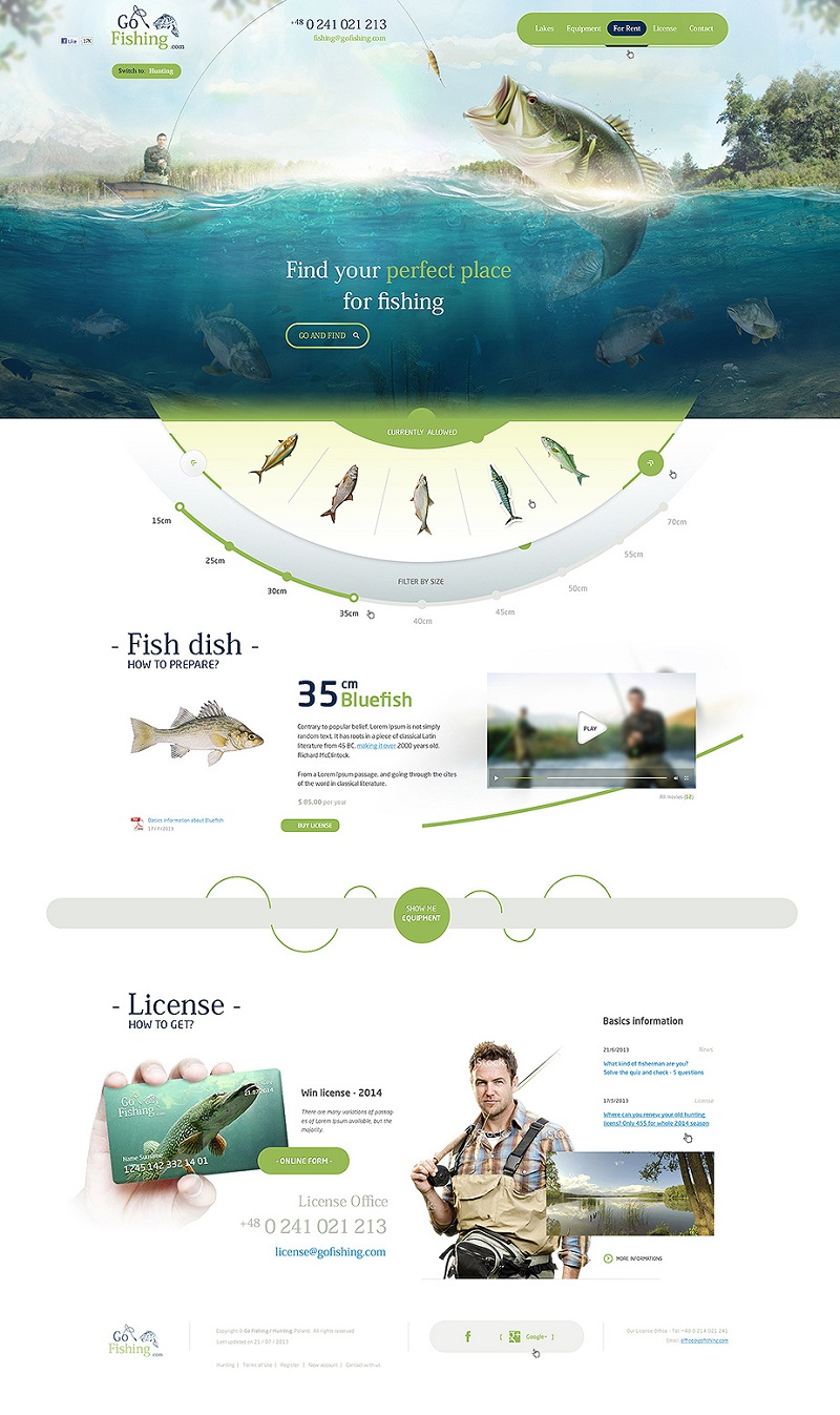 Creative Fishing Website by sandracz