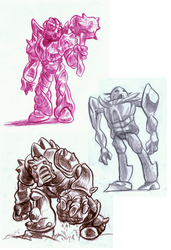 3 Element Lord of Rock designs by Vrahno