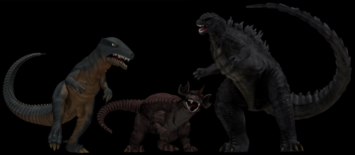 Gorosaurus, Baragon and a Godzilla