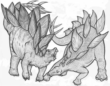 WWD and JP Stegosaurus