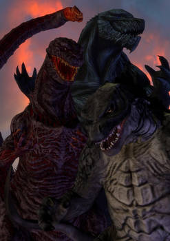 [B-Day Request] Godzillas '14-'16-'17