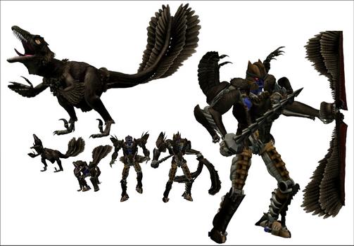 Feathered Beast Wars Dinobot 3D Model