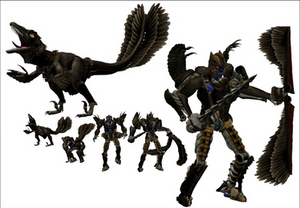 Feathered Beast Wars Dinobot 3D Model