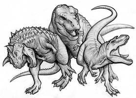 Dino Movie Villain Trio