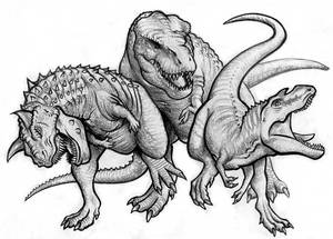 Dino Movie Villain Trio