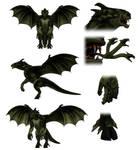 Gryphon (Unmade Godzilla Kaiju) Model Sheet