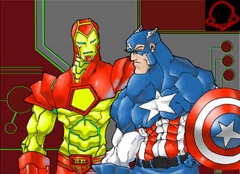 IRONMAN, CAPTAIN AMERICA color by dr-conz