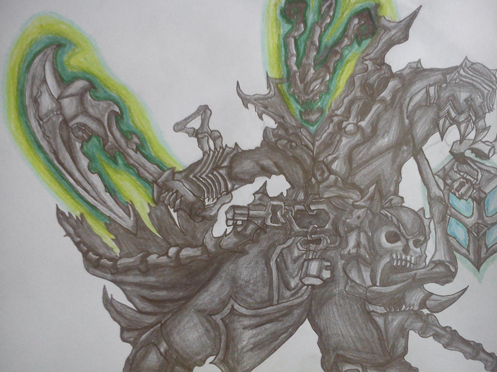 League Of Legends - Thresh Drawing 1. by marko0121
