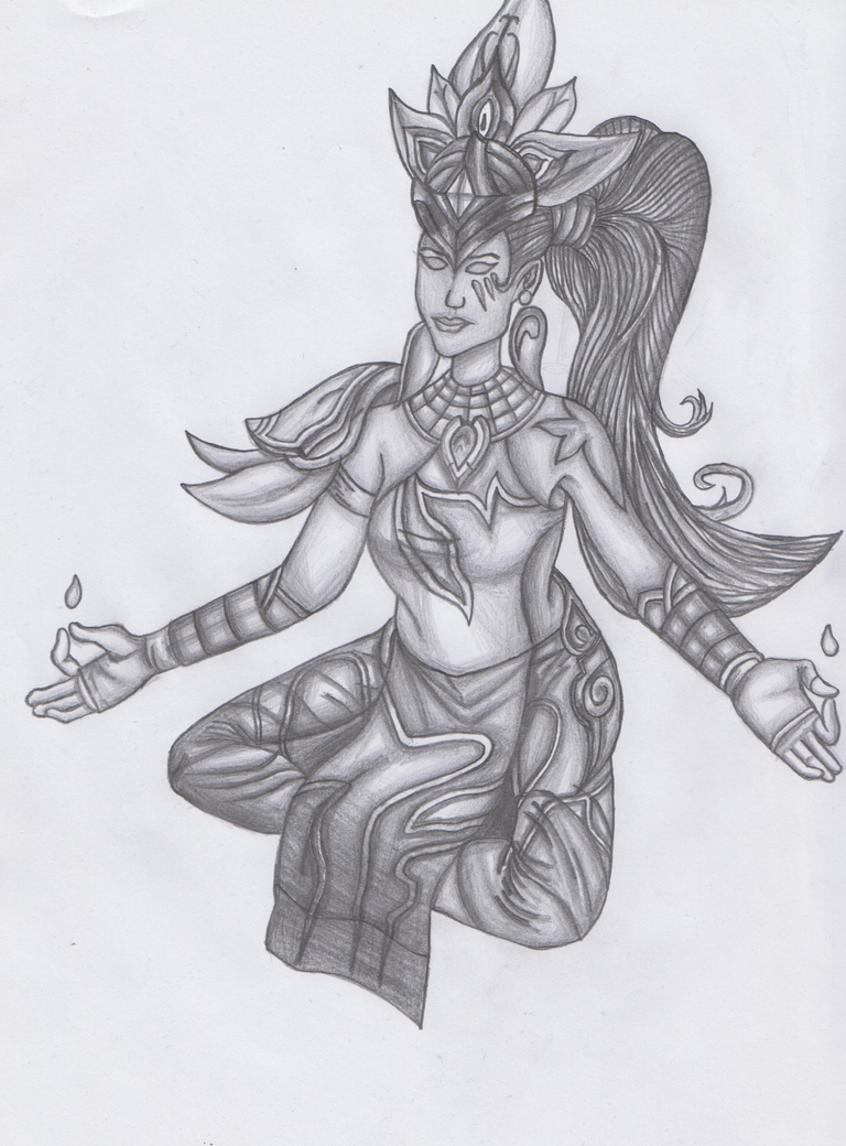 League Of Legends - Karma Drawing 1. by marko0121