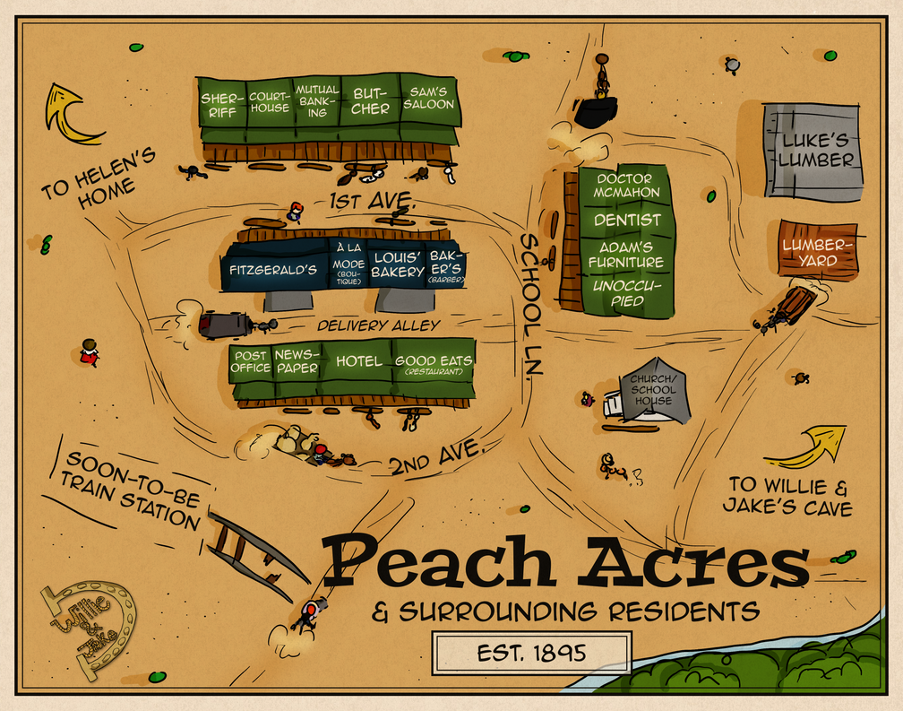 Willie And Jake Peach Acres Map By Haileymorrisonbooks On Deviantart Yx Wiring Diagram