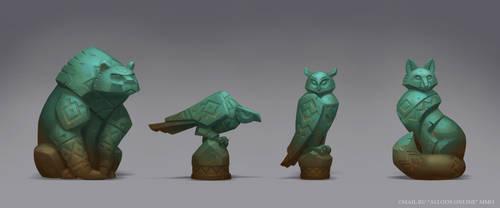 Priden's Ritual Statues by e-danilov