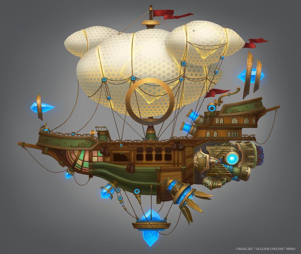 Kania Golden Age Astral Ship by e-danilov