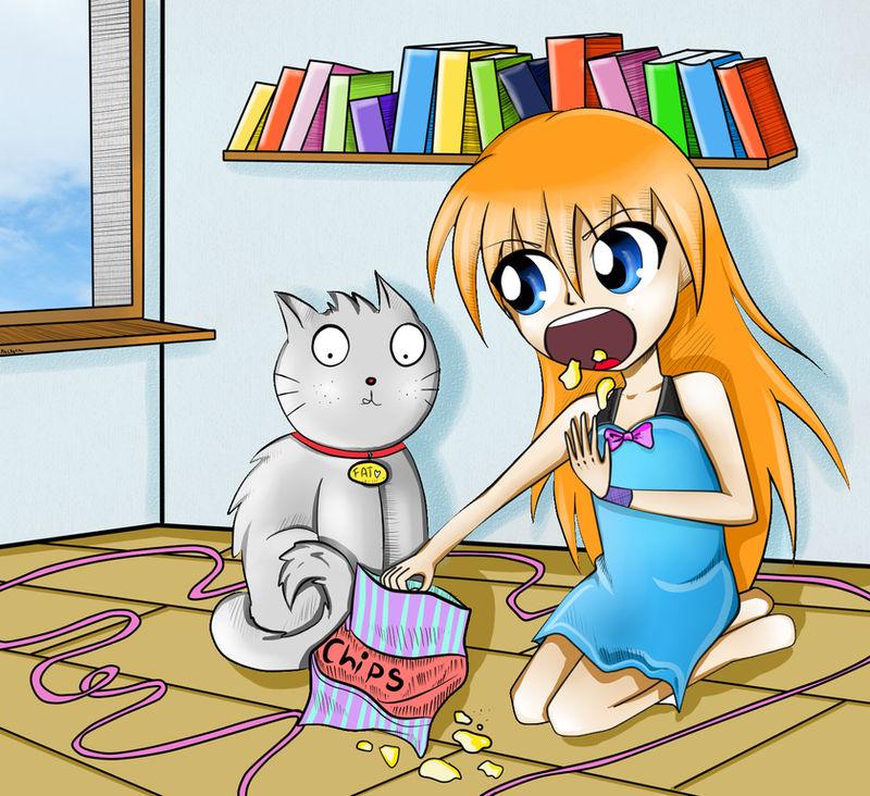 May and cat by mackyca